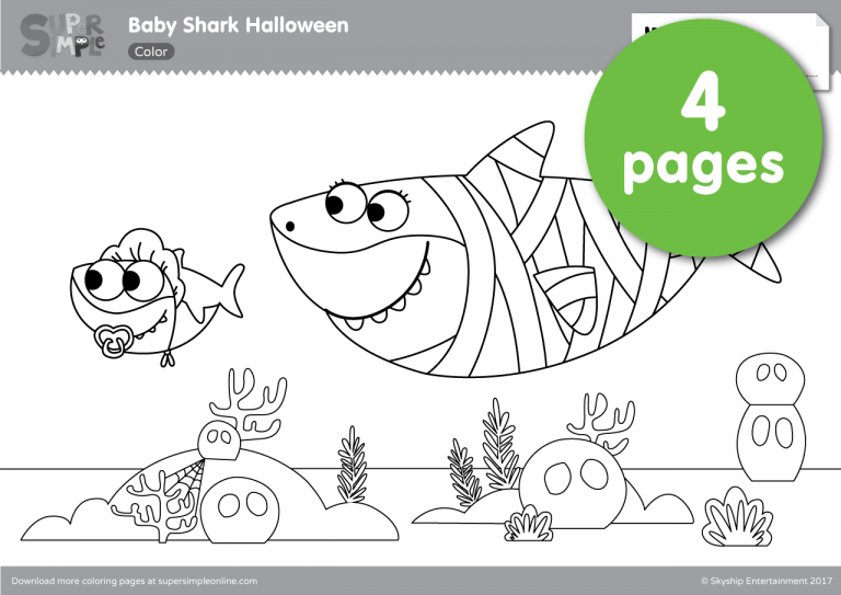 ba shark halloween coloring pages shark coloring pages