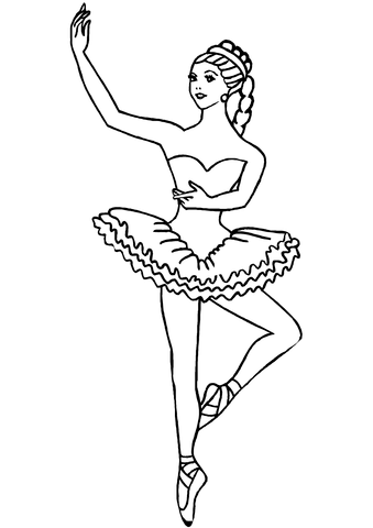 ballerina coloring page free printable coloring pages