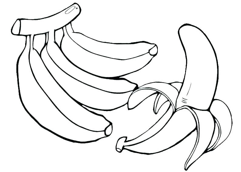 banana coloring pages best coloring pages for kids