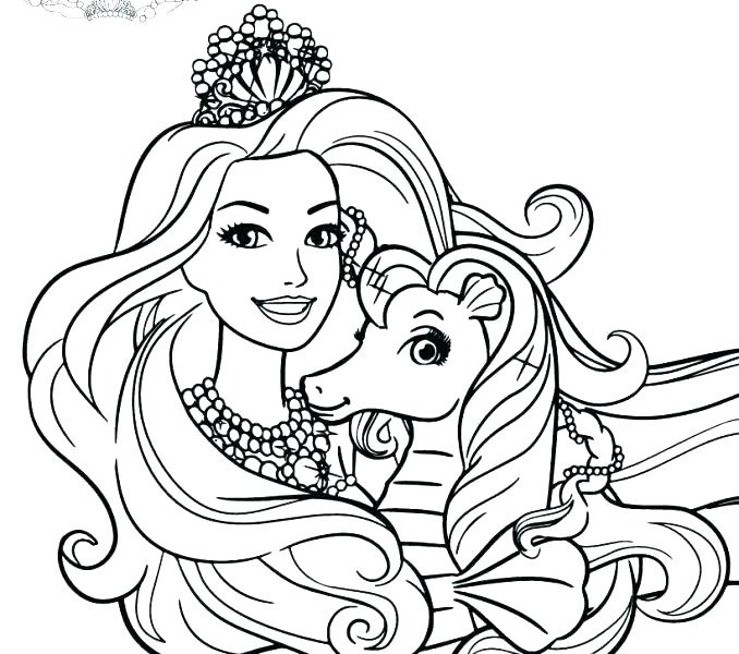 barbie coloring pages online at getdrawings free for