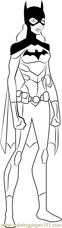 batgirl coloring page free young justice coloring pages