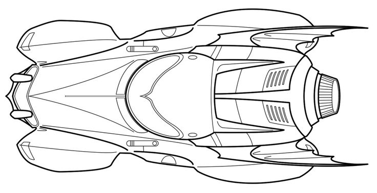 batman and batmobile coloring pages