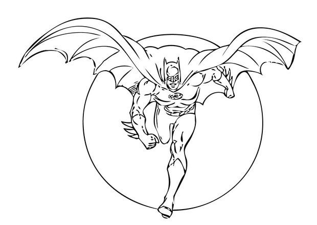 batman running coloring pages hellokids