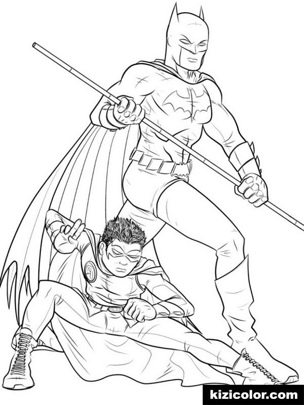 batman und robin fur jungen 3 ausmalbilder kostenlos