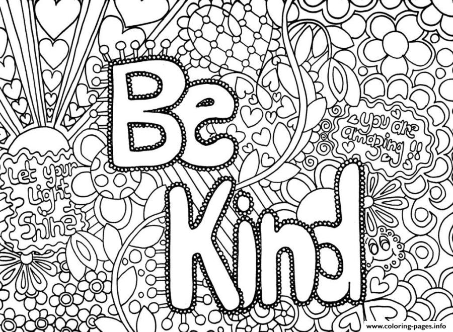 be kind word coloring pages printable
