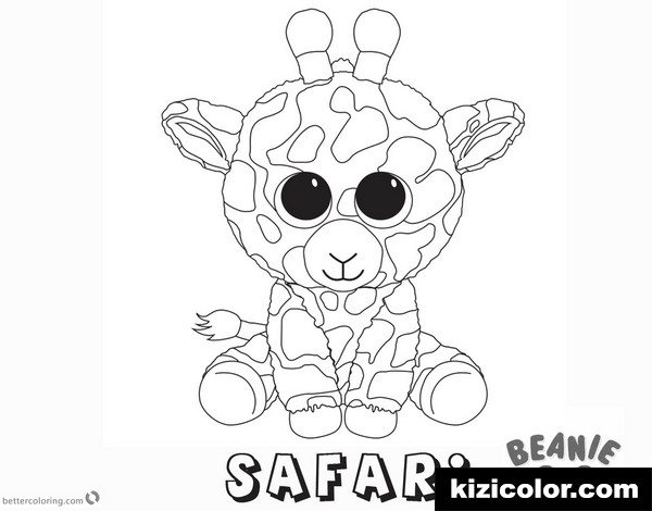 beanie boo safari kizi free coloring pages for children