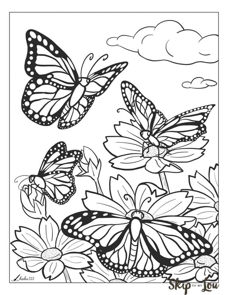 beautiful butterfly coloring pages skip to my lou