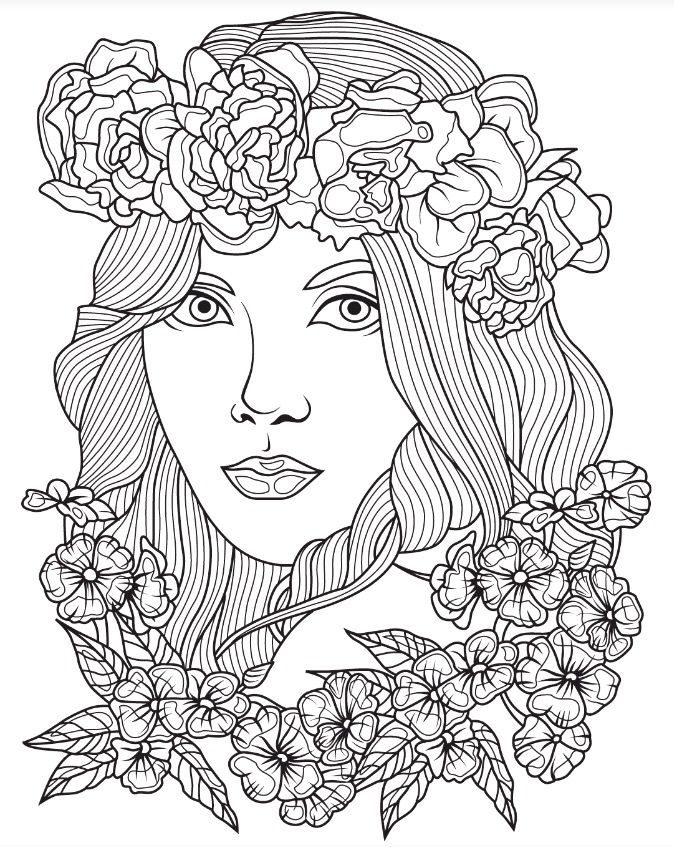beautiful faces coloring page colorish app free coloring