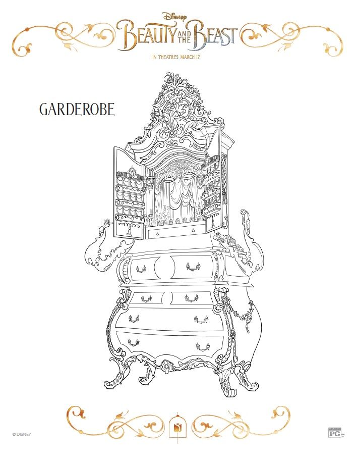 beauty and the beast coloring pages free printables die