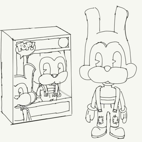 bendy and the ink machine coloring pages part 3