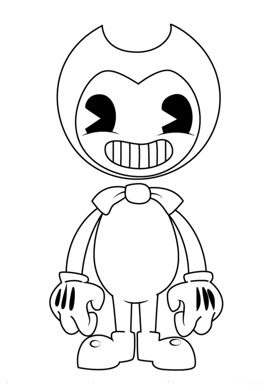 bendy coloring pages bendy the ink machine kostenlose
