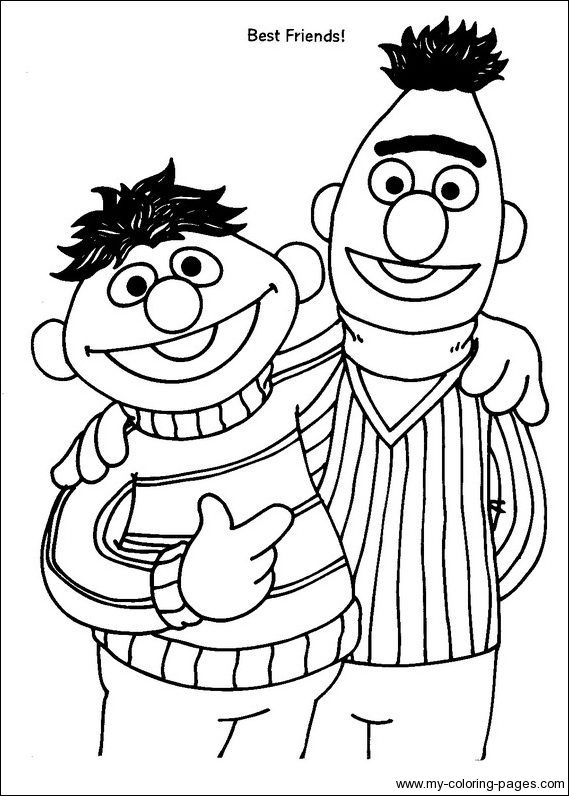 bert ernie sesame street coloring pages coloring pages