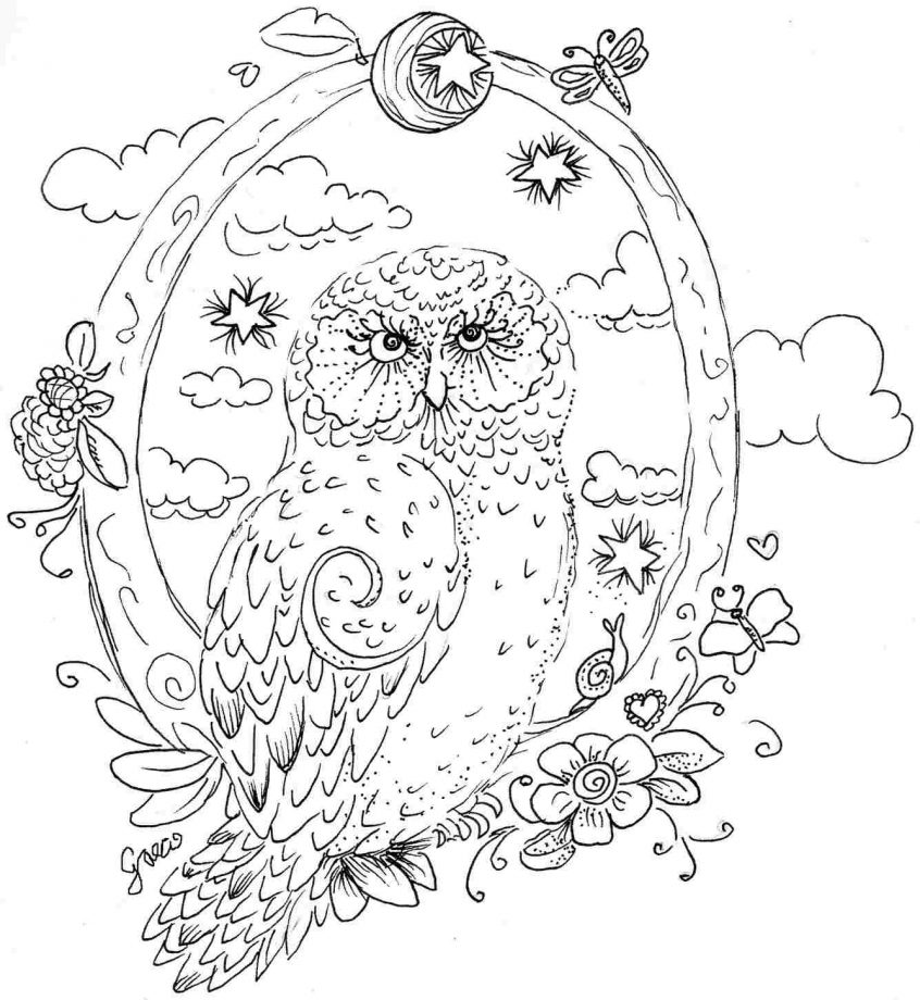 best coloring free adult owl pages to print at getdrawings
