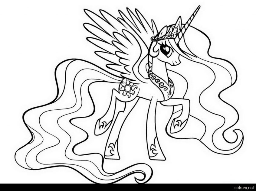 best coloring my little pony pages princess celestia in