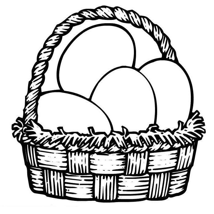 best empty easter basket coloring page free 8 printable