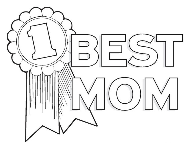 best mom coloring page coloring page book