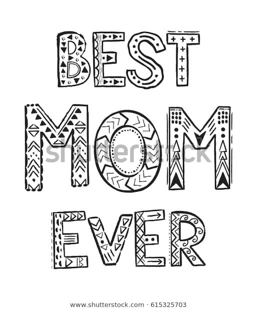 best mom ever coloring pages coloring stock vector royalty
