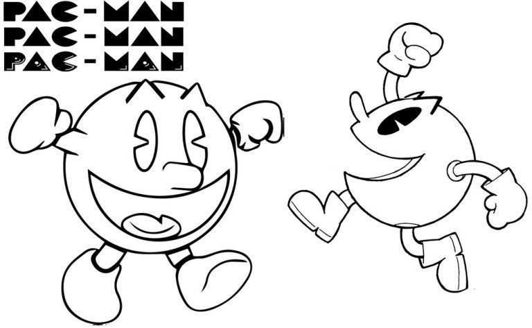 best printable pacman coloring page coloring pages pacman