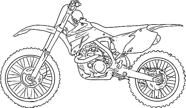 bicycle coloring pages dirt bike to print collection page
