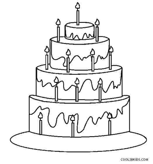 birthday cake coloring pages for preschoolers free printable