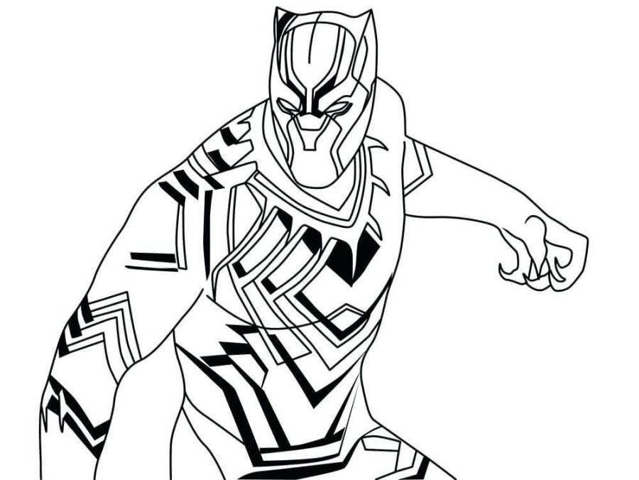 black panther coloring pages superhero coloring pages