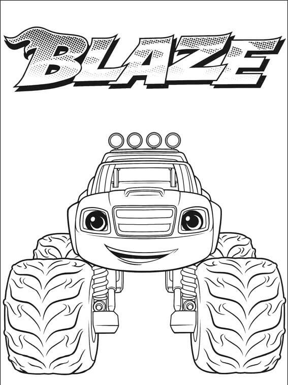Blaze And The Monster Machines Coloring Pages Picture Whitesbelfast