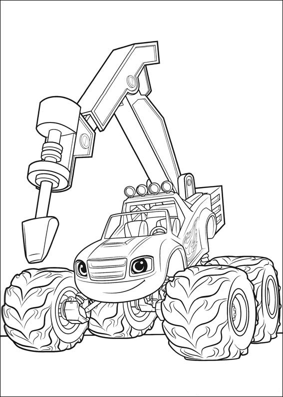 blaze and the monster machines coloring pages best