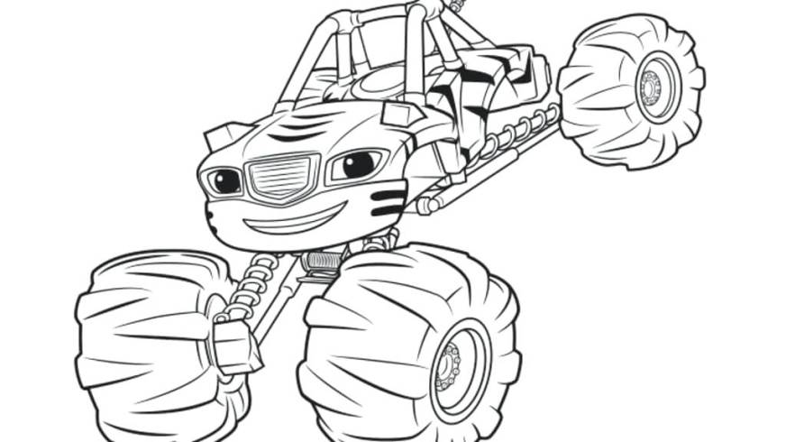 blaze coloring pages to print at getdrawings free for