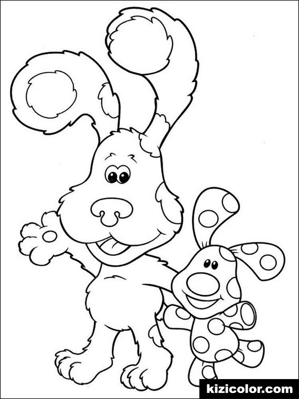 blues clues 6 kizi free coloring pages for children