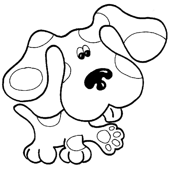 blues clues coloring pages free printable download blues