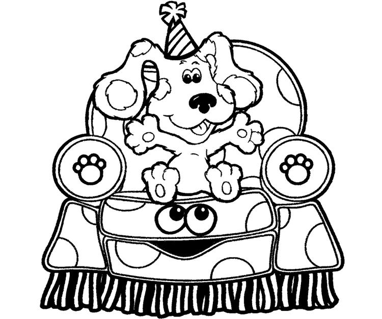 blues clues coloring pages sitting on chair fun for kids