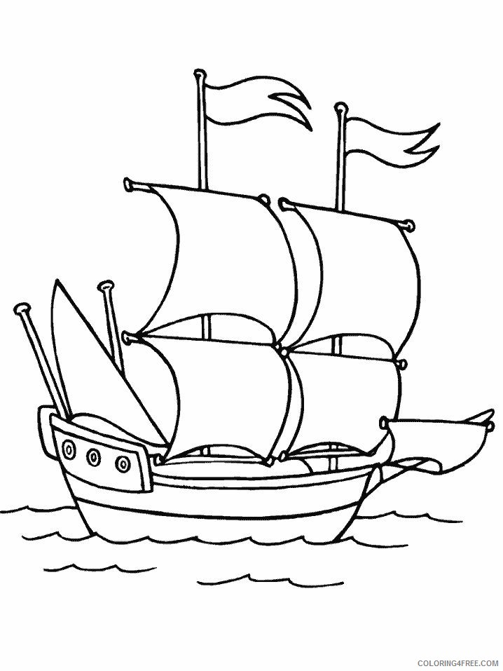 boat coloring pages sailing boat coloring4free