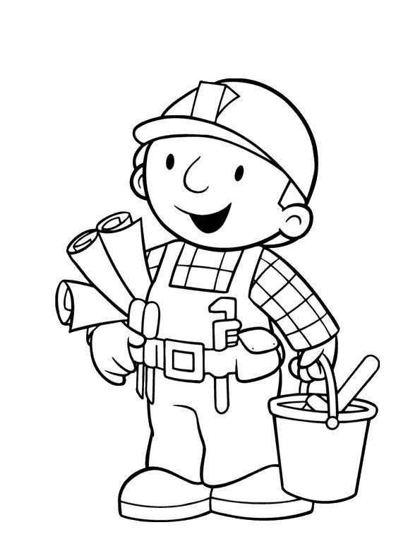 bob the builder coloring pages free enjoy coloring