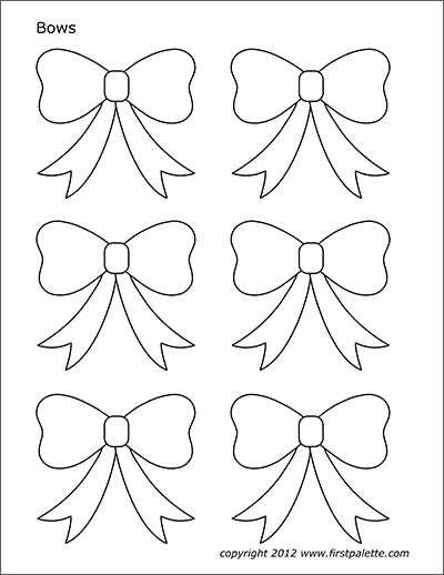 bows free printable templates coloring pages
