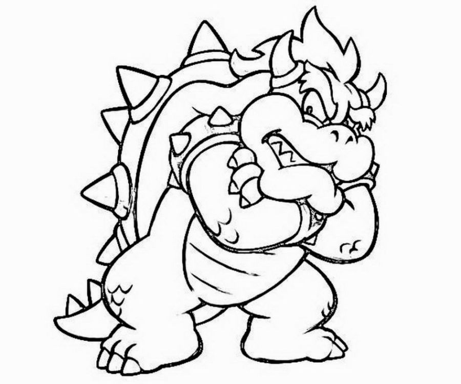 bowser coloring pages mario coloring pages super coloring