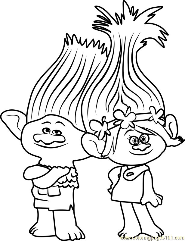 Troll Coloring Pages Picture Whitesbelfast