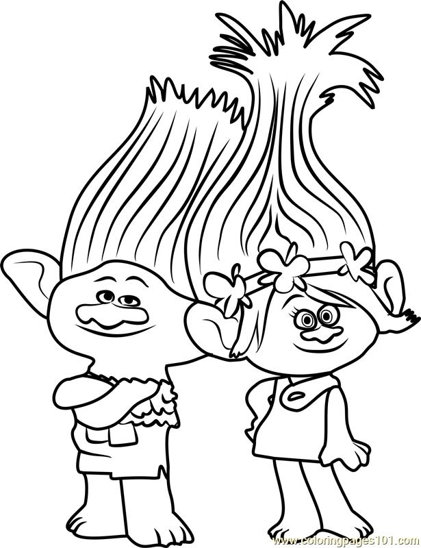 branch from trolls coloring page disney malvorlagen