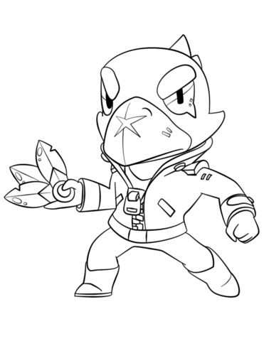 brawl stars crow coloring page free printable coloring pages