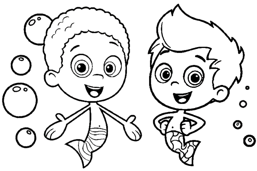 bubble guppies color pages color on pages coloring pages