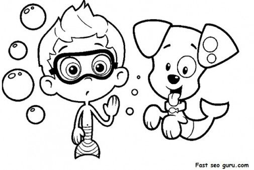 bubble guppies printable coloring sheets printable