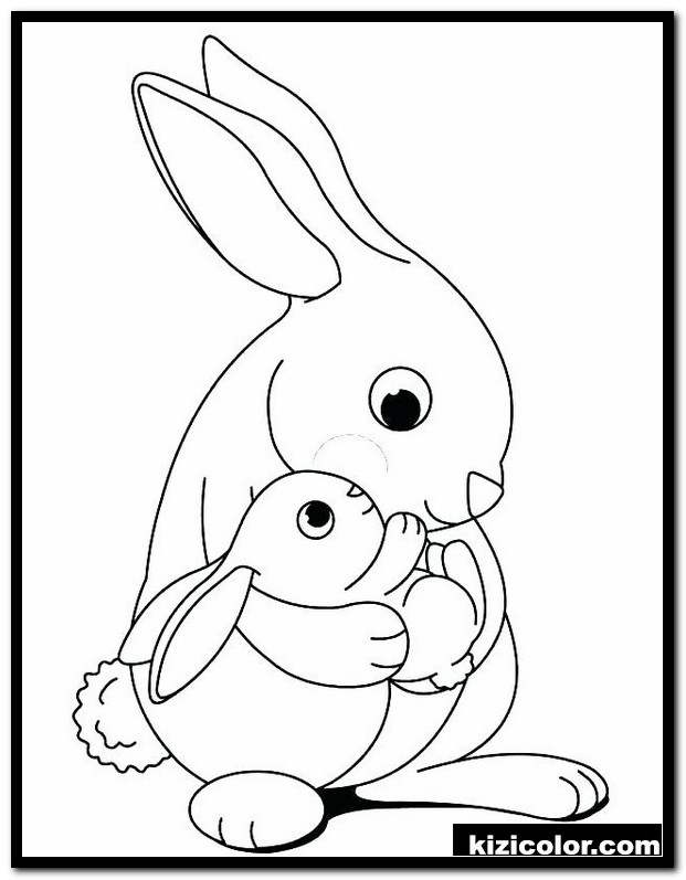 Rabbit Coloring Pages Pictures - Whitesbelfast