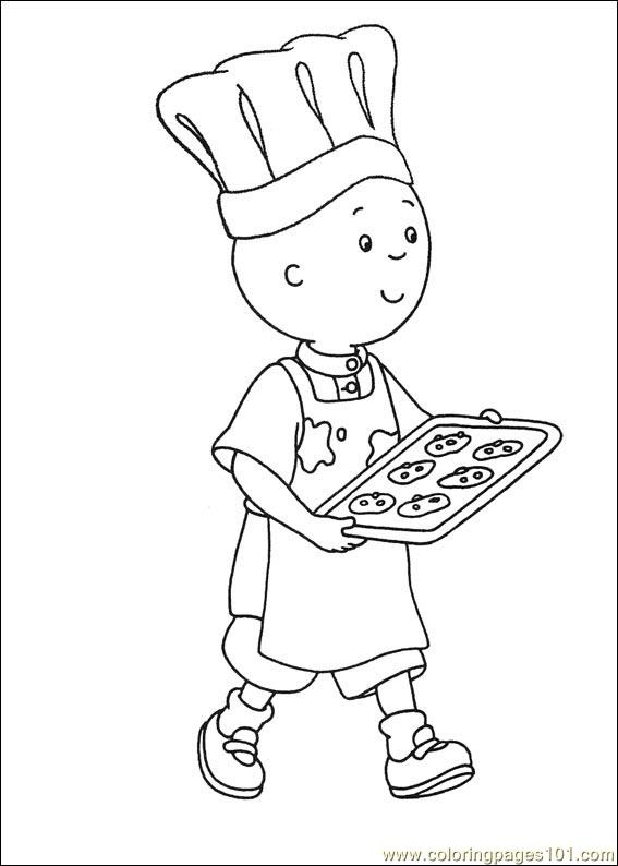 caillou coloring pages 008 coloring page free caillou