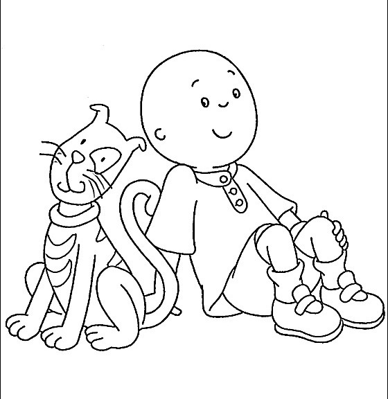 caillou coloring pages 360coloringpages