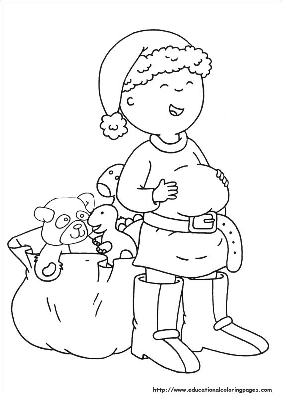 caillou coloring pages for christmas christmas coloring pages