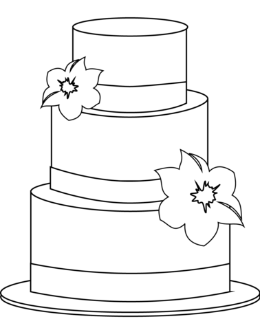 cake coloring page free printable coloring pages