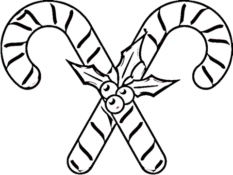 candy canes coloring page free printable coloring pages