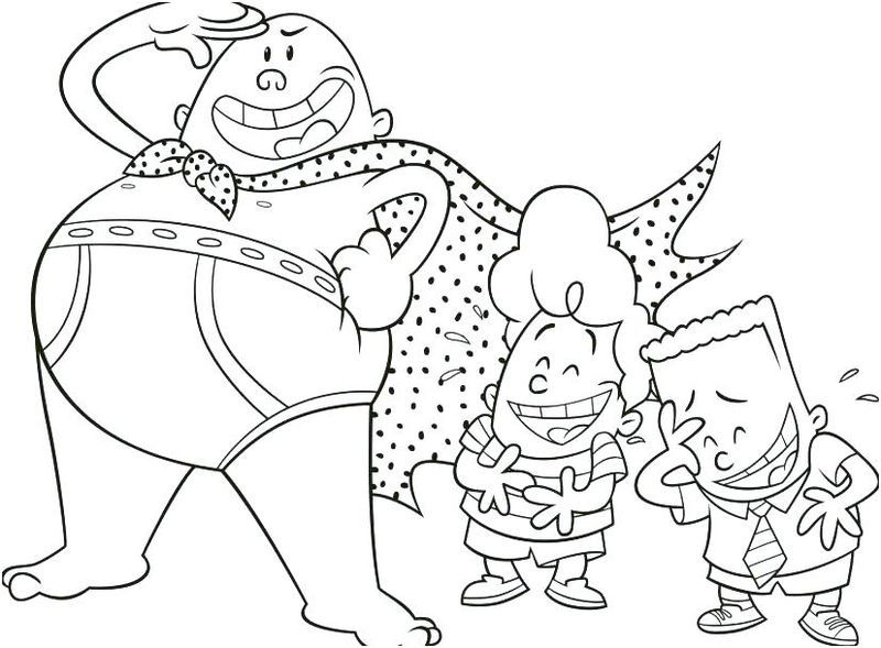 captain underpants coloring pages captain underpants