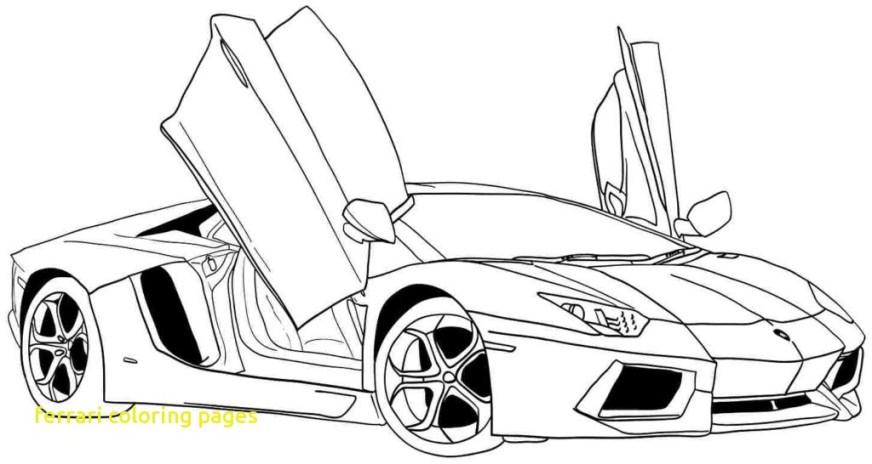 car coloring pages ferrari