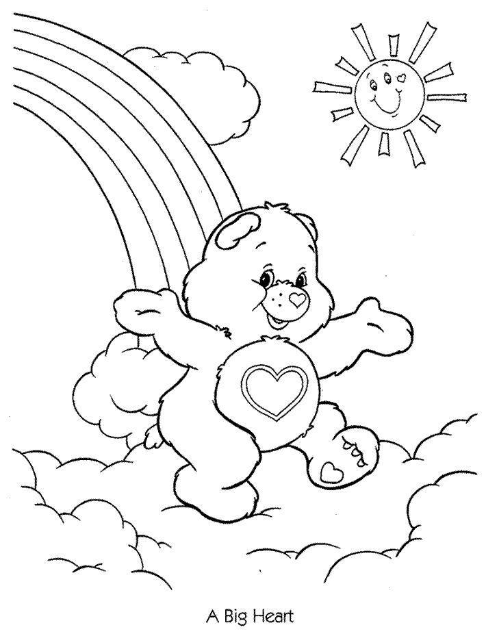 care bears 4 cartoons printable coloring pages