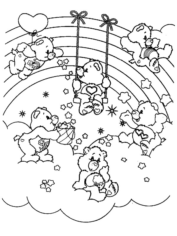 care bears to print care bears kids coloring pages